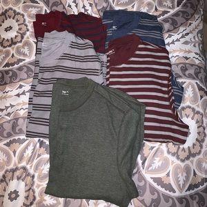 Lot of 5 Men's XL Gap Thermal Style Shirts
